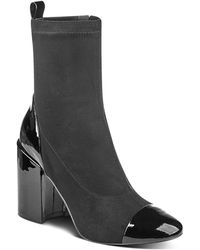 Marc Fisher - Tache Suede And Patent Leather Booties - Lyst
