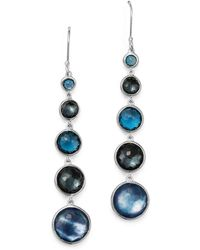 Ippolita - London Blue Topaz & Hematite Earrings In Eclipse - Lyst