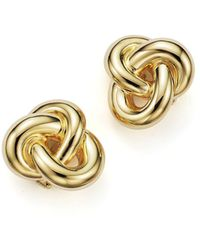 Roberto Coin - 18k Yellow Gold Knot Earring - Lyst