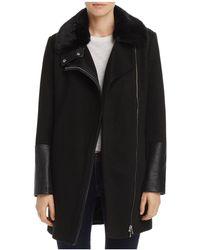 Aqua | Faux Fur-collar Coat | Lyst