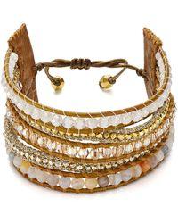 Chan Luu - Beaded Cuff Bracelet - Lyst