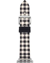 Kate Spade - 25mm Apple Watch Band, Black And White Silicone, Kss0013 - Lyst
