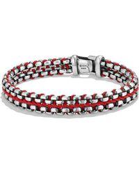 David Yurman - Woven Box Chain Bracelet In Red - Lyst