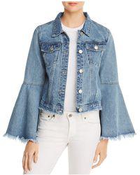 Glamorous - Cropped Denim Jacket - Lyst