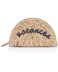 Whistles - Vive Embroidered Straw Clutch - Lyst