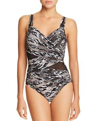 Miraclesuit - Feline Fixation Madero One Piece Swimsuit - Lyst