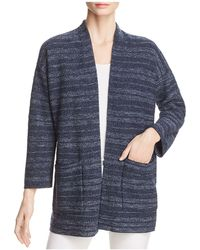 Eileen Fisher - Striped Kimono Cardigan - Lyst