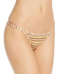 Ellejay - Tara Ribbed Bikini Bottom - Lyst