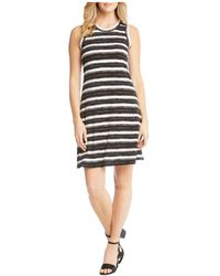 Karen Kane - Striped A-line Tank Dress - Lyst