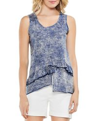 Vince Camuto - Ruffle-trim Tank - Lyst