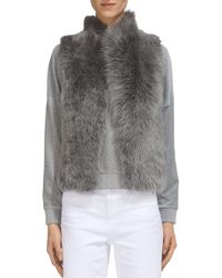 Whistles - Cropped Real Lamb Shearling Gilet - Lyst