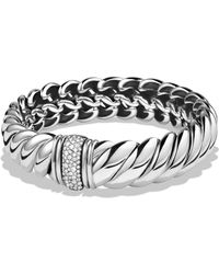 David Yurman | Hampton Cable Bracelet With Diamonds | Lyst