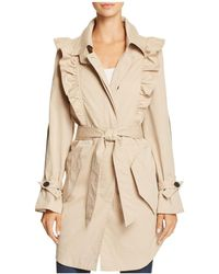 Joie - Gila Ruffled Trench Coat - Lyst
