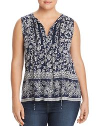 Lucky Brand - Printed Sleeveless Peasant Top - Lyst