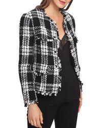 1.STATE - Plaid Tweed Cropped Jacket - Lyst