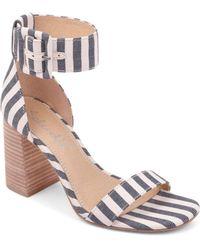 d454937254e Lyst - Splendid Baron Striped Fabric Block-heel Mule Sandal in Blue