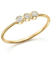 Zoe Chicco | 14k Yellow Gold And Diamond Bezel-set Ring | Lyst