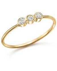 Zoe Chicco | 14k Yellow Gold And Diamond Bezel-set Ring | Lyst