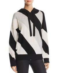 Minnie Rose - Striped Cashmere Hooded Sweater - Lyst