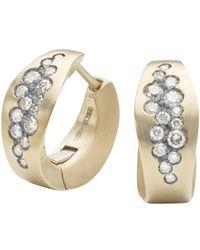 Antonini - Matte 18k White Gold Matera Silvermist Diamond Earrings - Lyst