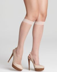 DKNY - Donna Karan Hosiery Nude Knee Highs - Lyst