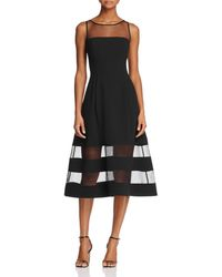 Aidan By Aidan Mattox - Aidan Aidan Illusion Fit-and-flare Dress - Lyst