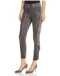 XCVI - Catalin Mixed Media Trousers - Lyst