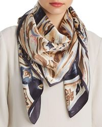 Echo - Painterly Paisley Silk Square Scarf - Lyst