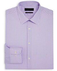 Bloomingdale's - Gingham Regular Fit Dress Shirt - Lyst