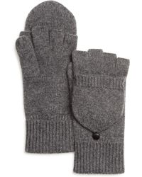 Bloomingdale's - Pop Top Cashmere Gloves - Lyst
