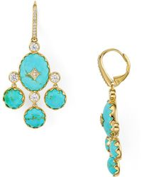 Nadri - Birdie Turquoise Chandelier Earrings - Lyst