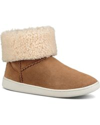 11ef580e4b2 UGG Mika Curly Shearling Bootie Sneakers in Natural - Lyst