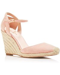 Kate Spade - Women's Giovanna Suede Espadrille Wedge Court Shoes - Lyst