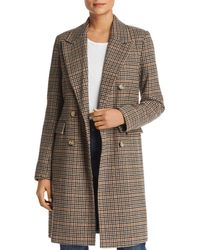 Vero Moda - Royal Houndstooth Double-breasted Coat - Lyst