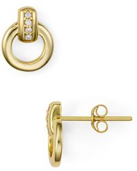 Aqua - Interlocking Circle Earrings In 18k Gold-plated Sterling Silver Or Sterling Silver - Lyst