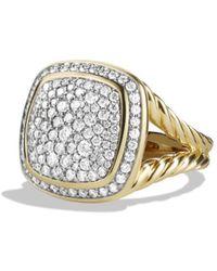 David Yurman - Albion Ring With Diamonds In 18k Gold - Lyst