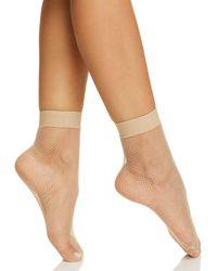 Hue - Sporty Fishnet Ankle Socks - Lyst