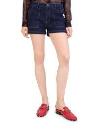 The Kooples - Chiara Denim Mini Shorts - Lyst