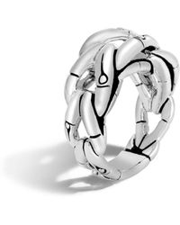 John Hardy - Sterling Silver Bamboo Ring - Lyst