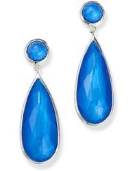 Ippolita - Sterling Silver Wonderland Mother - Of - Pearl Doublet Elongated Drop Earrings - Lyst