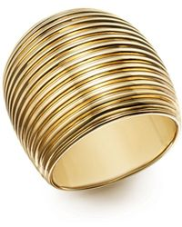 Roberto Coin | 18k Yellow Gold Wide Ring | Lyst