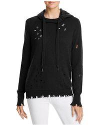 Aqua - Deconstructed Hooded Sweatshirt - Lyst