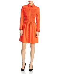 Maje - Roumpa Smocked Shirt Dress - Lyst