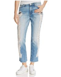 Band Of Gypsies - Distressed Straight-leg Jeans - Lyst