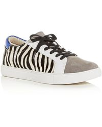 Kenneth Cole Women's Kam Animal - Print Lace Up Trainers - White