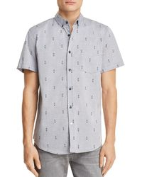 Sovereign Code - Crystal Cove Regular Fit Short Sleeve Button-down Shirt - Lyst