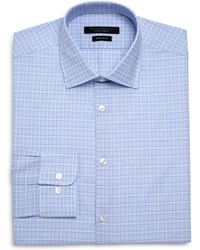 John Varvatos - Checked Graph Regular Fit Dress Shirt - Lyst
