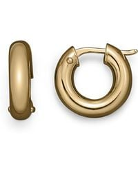 Roberto Coin - 18k Yellow Gold Hoop Earrings - Lyst