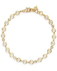 Temple St. Clair | 18k Gold Small Bracelet With Royal Blue Moonstone And Diamonds | Lyst
