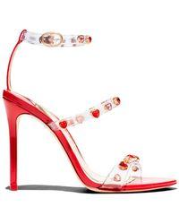 313dfdd3d49 Sophia Webster - Women s Rosalind Heart Gem Stiletto Sandals - Lyst